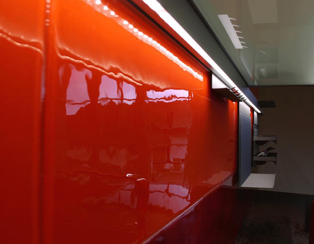 Living Glas ausgestellt